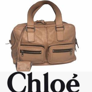 Large Chloe Betty Satchel in Beige Rose like new